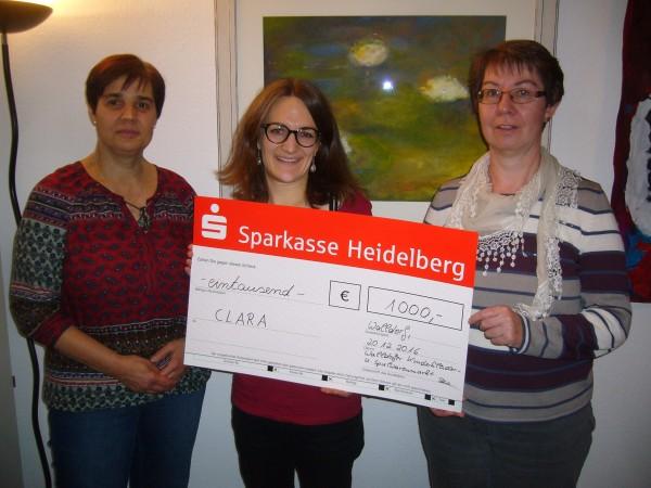 Unterstützung vom Kinderkleider- und Spielwarenmarkt Walldorf - Großzügige Spende an CLARA